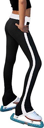 Chloe Noel Figure Skating Side Strip Pants P02 White Child Medium