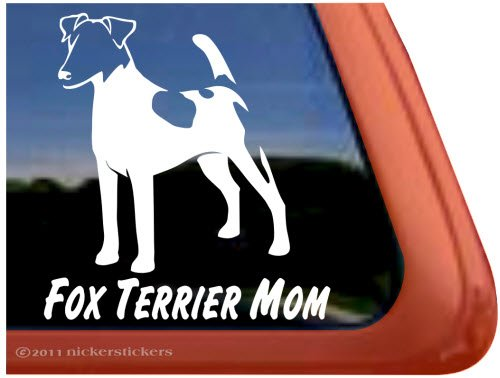 Fox Terrier Mom ~ Smooth Fox Terrier Dog Vinyl Window Decal (Smooth Fox Terrier Sticker)