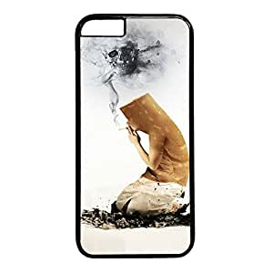 Funny Smoking Custom Back Phone Case for iphone 6 4.7 PC Material Black -1218199