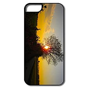 Ideal Sunset Through Tree Plastic Cover For IPhone 5/5s