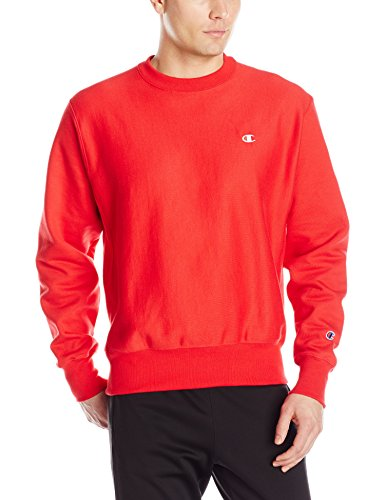 Scarlet Pullover Sweatshirt (Champion LIFE Men's Reverse Weave Sweatshirt, Team Red Scarlet, XX-Large)