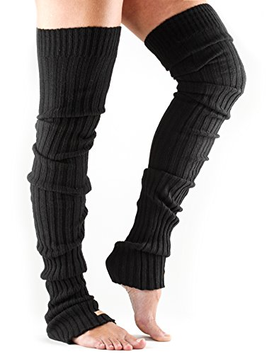 ToeSox Women's Thigh High Ribbed Knit Warmers (Black) Review