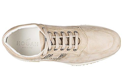 Hogan Damenschuhe Turnschuhe Damen Wildleder Schuhe Sneakers interactive double