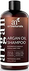 """""""Lather in affordable luxury every day. ArtNaturals' Argan Oil Daily Hair Shampoo is the way to treat your stressed-out locks to a shower spa treatment. The fabled conditioning properties of Moroccan argan oil, combined with natural herbal ex..."""