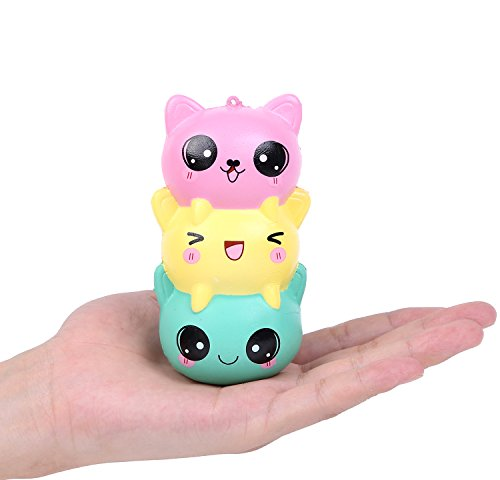 Aolige Squishies Slow Rising Jumbo Kawaii Cute little Insects Cat Creamy Scent for Kids Party Toys Stress Reliever (Cute Kid Halloween Food)