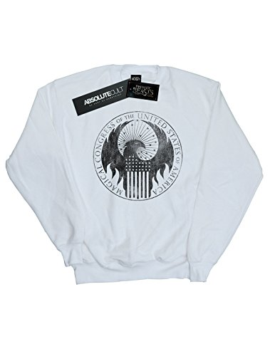 Blanco Mujer Congress Magical De Fantastic Beasts Camisa Absolute Distressed Entrenamiento Cult wavPnqt