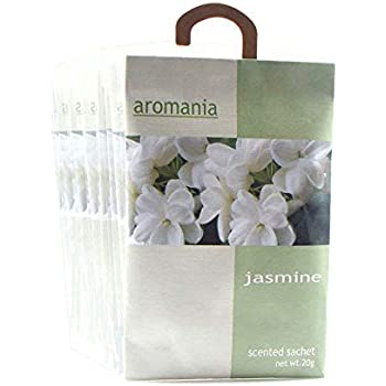 YUMSUM Premium Jasmine Scented Sachets Bags Clothes Fragrant for Drawers Closets Room Wardrobe Bathrooms Cars,25gX8 Pack (Jasmine)