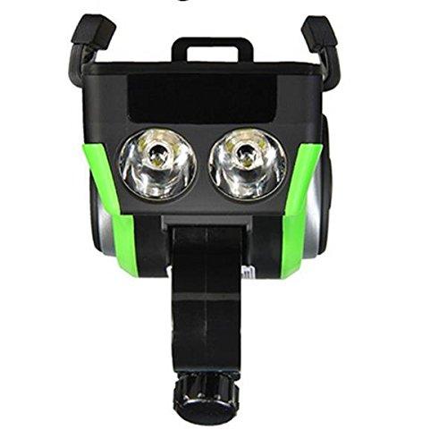 HITSAN ROCKBROS Multifunction Bicycle Phone Holder Bike Light-bluetooth Audio Powerbank Cycling Ring Bell One Piece by HITSAN (Image #3)