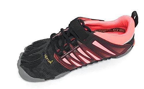 Vibram Women's V-Train Cross-Trainer Shoe, Black/Coral/Grey, 42 EU/9.5-10 M US (Best Vibram Shoes For Crossfit)