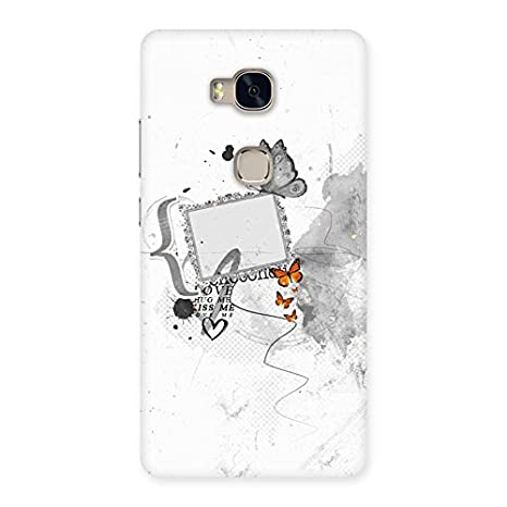 Grey Love Frame Back Case Cover for Huawei Honor 5X: Amazon