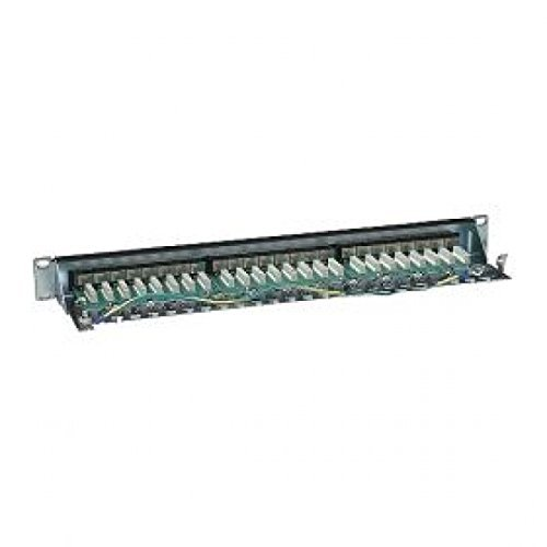 Audio Entry Panel - MANHATTAN Cat6 Shielded Patch Panel 24-Port, 1U, 90 Degree Top-Entry Punch-Down Blocks (720038)