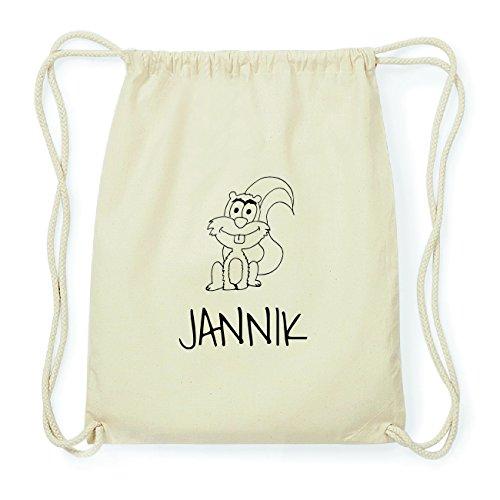 JOllipets JANNIK Hipster Turnbeutel Tasche Rucksack aus Baumwolle Design: Eichhörnchen