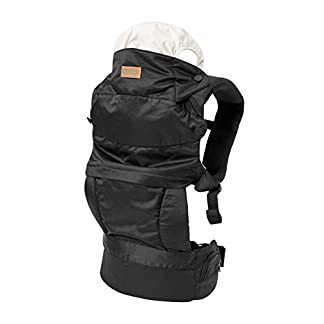 Nuby Baby Carrier Newborn to Toddler, Hip Healthy Certified Carrier, 3 in 1 Front and Back Baby Carrier, Black 6