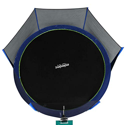 Zupapa 15 14 12 Ft TUV Approved Trampoline with Enclosure Net and Pole and Safety Pad and Ladder and Jumping Mat and Rain Cover 108 Springs Size 15 Feet by Zupapa (Image #7)