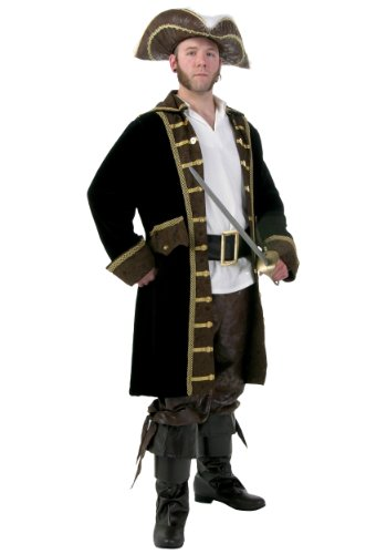 Men's Plus Size Realistic Pirate Costume 2X -