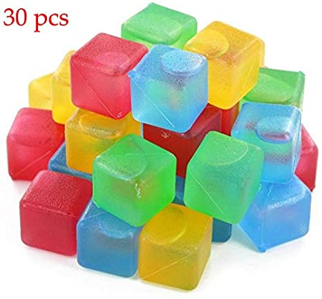 Amazon.com: Cubos de hielo reutilizables, cuadrados de ...