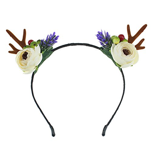 Lovemyangel Antlers Headbands Girl Adult Christmas Easter and Halloween Party Hair Accessoies (Rosettes)
