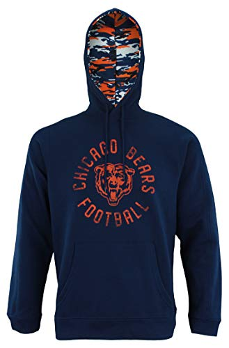 Zubaz NFL Men's Team Camo Lined Pullover Hoodie, Chicago Bears X-Large