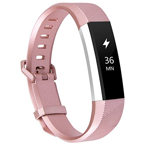 Large Small Soft Silicone Replacement Bands Adjustable Sport Strap Wristbands Accessories for Fitbit Alta//Ace Women Men NAHAI Bands Compatible with Fitbit Alta HR//Fitbit Alta//Ace