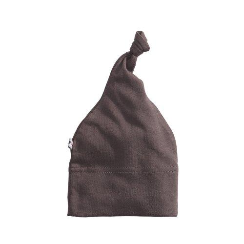 Babysoy Janey Baby Hat, Acorn, 0-6 Months (Brown Cotton Beanie)