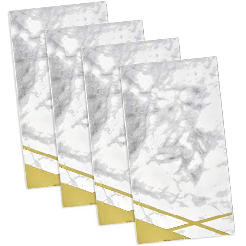 100 Marble Guest Napkins Disposable Elegant Guests Hand Towel Napkin Gold Foil with White Grey Marbleized Design for Bathroom Wedding Holiday Anniversary Baby Shower Birthday Party Decor Gift Boutique