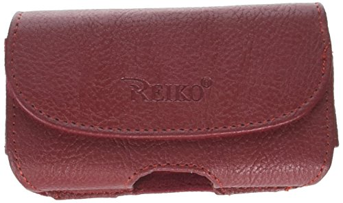 Reiko Horizontal Pouch HP18A for BlackBerry 8330 - Retail Packaging - Red
