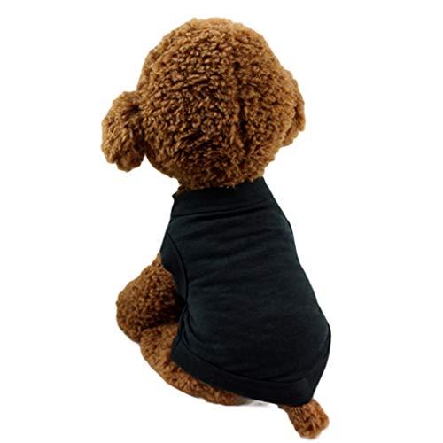 JJHYDZ Pet 100% Cotton Clothes Summer Cute Dog Dog Cat Solid Colour Vest Clothing Small Pup Costume Ubranie FLA Psa]()