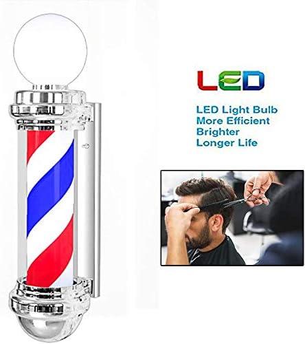 FJY 70 cm barbero lámpara de pie con Bandas LED peluquería Azul ...
