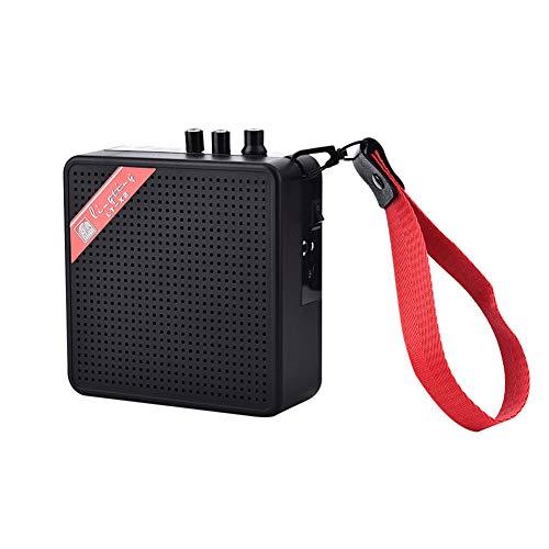 XWU Mini Guitarra portátil Combo Amplificador Potencia Estéreo Receptor de Sonido Selector de Altavoz con Cuerda