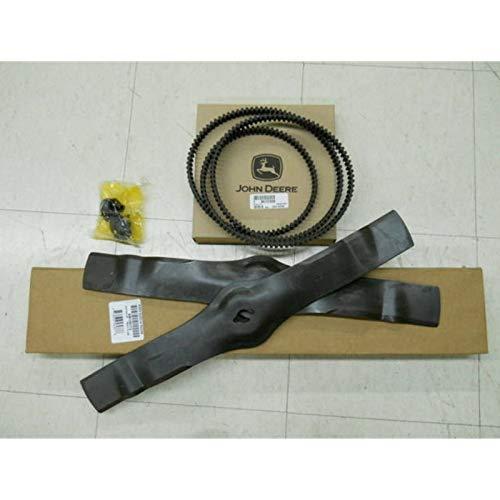 John Deere 42M Timing Belt & Blades Freedom Deck NIB AM130172 M127926 (John Deere 42 Mower Deck For Sale)
