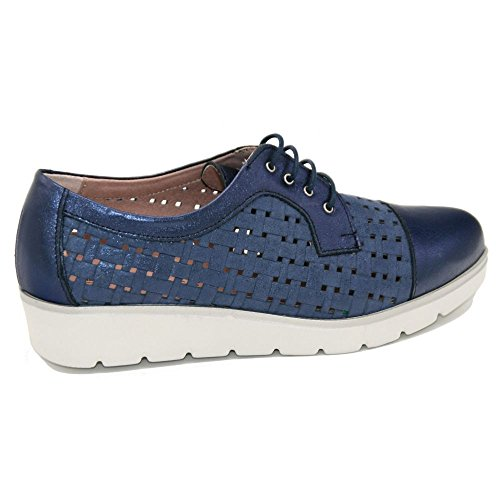 PITILLOS 5122, Damen Schnürhalbschuhe Blau Blau Blau