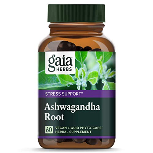 Gaia Herbs Ashwagandha Root, Vegan Liquid Capsules, 60 Count - for Stress Relief, Immune Support, Balanced Energy Levels and Mood ()