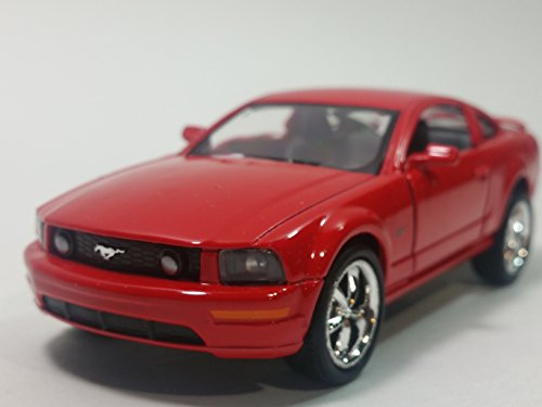 Kinsmart Fire Engine Red 2006 Ford Mustang GT Hardtop 1/38 Scale Diecast Car