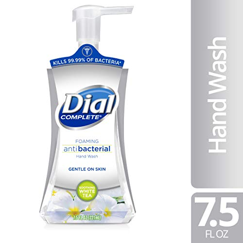 Dial Complete Foaming Antibacterial Hand Wash, Soothing White Tea, 7.5 Ounce