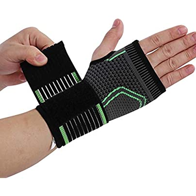 Zerone Adjustable Wrist Brace Unisex Sport Protection Wristband Bracer Knitting Pressurized Wrist and Palm Brace Guard Bandage with Pressure Belt Relieve Carpal Tunnel and Wrist Pain Estimated Price £7.39 - £8.39 -