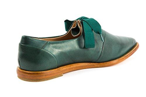 Neosens - Zapatos de cordones de Piel Lisa para mujer verde verde 37