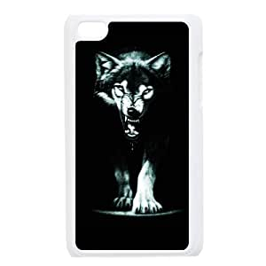 Wolf Pattern Plastic Hard Case FOR IPod Touch 4th TPUKO-Q761553