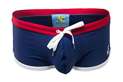 Anchor Trunk w/Show-It, Navy, Small by Andrew Christian