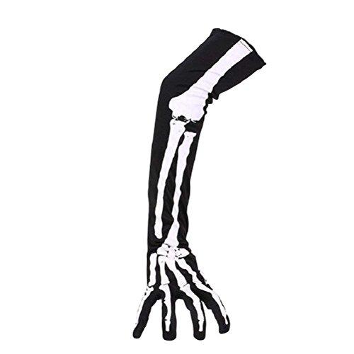 EBTOYS Halloween Skeleton Gloves Finger Gloves Halloween Costume Cosplay Party,1 Pair