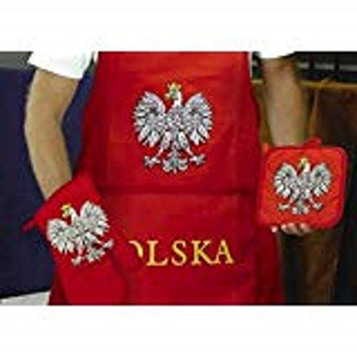 (NEW) Polish Poland Polska BBQ Barbeque Apron Set (hat not included) by Queen Novelties ()