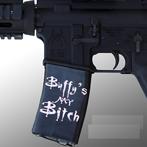 Ultimate Arms Gear 4 Pack of AR Mag Cover Socs for 30-40rd Polymer & PMAG Mags, Buffy's My Bitch