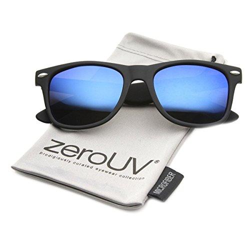 zeroUV ZV-8030d Polarized Horn Rimmed Sunglasses, Blue, 54 mm