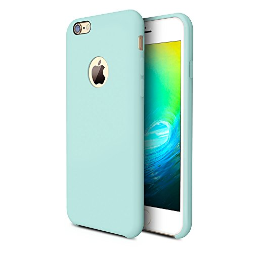 (TORRAS [Love Series] iPhone 6S Case/iPhone 6 Case, Liquid Silicone Rubber Shockproof Case Soft Microfiber Cloth Cushion Compatible iPhone 6 / 6S, Mint)