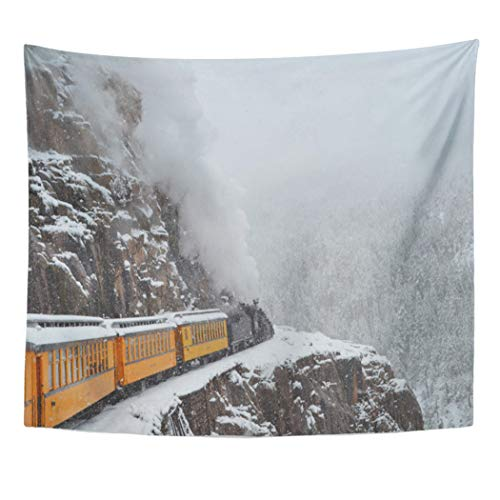 - Semtomn Tapestry Artwork Wall Hanging Train The Polar Express Rounds Narrow Guage Railroad Durango 50x60 Inches Tapestries Mattress Tablecloth Curtain Home Decor Print