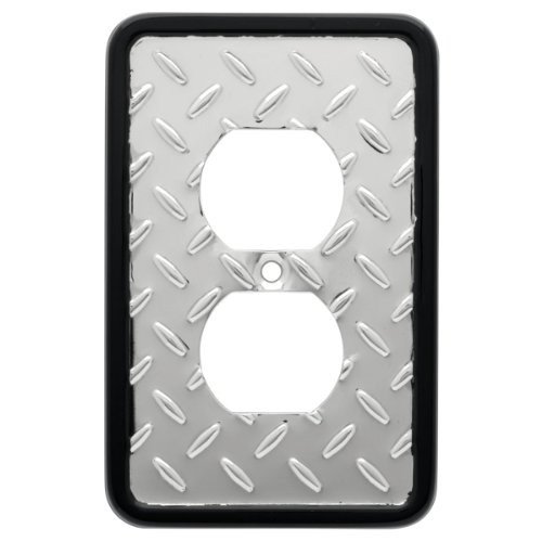 Franklin Brass 135859 Diamond Plate Single Duplex Outlet Wall Plate / Switch Plate / Cover (Franklin 1)