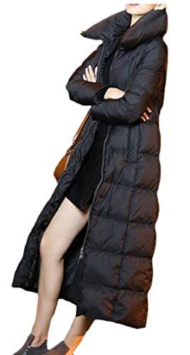EKU Long Warm Down Jacket Women's Hooded Winter 2 Outwear Thick Coat rq4pOxrT
