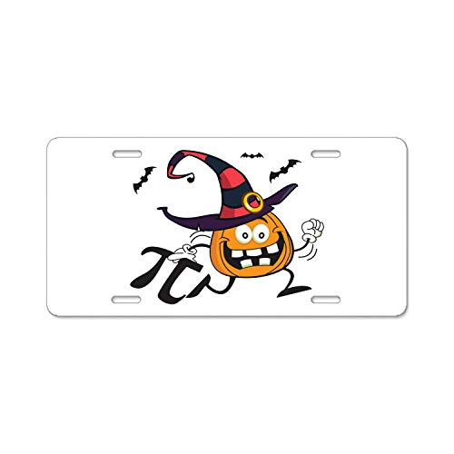 ABLnewitemFrameFF Pumpkin Pi Math Funny Halloween Firefighter Lives Matter Flag License Plate Novelty Auto Car Tag Vanity Gift for Fire Fighters ()