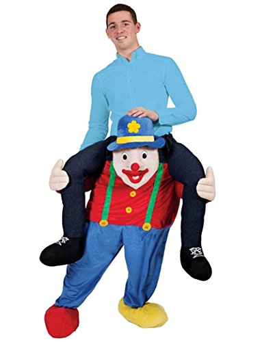 Carry Me Illusion Costume Piggy Back Circus Clown Mascot Costume Ride On Me Funny Fancy Dress ()