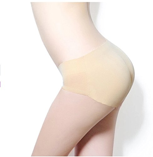 Sexy Hot femmes Lady rembourré Seamless Butt Hip Enhancer Shaper Panties Underwear (XL 30 pouces, Nu)