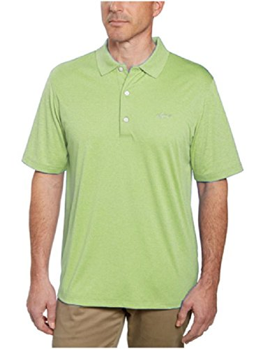 Greg Norman Signature Series Mens ML75 Play-Dry Performance Polo Shirt (X-Large, Jute Green Heather)
